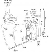 RS125 háti permetező